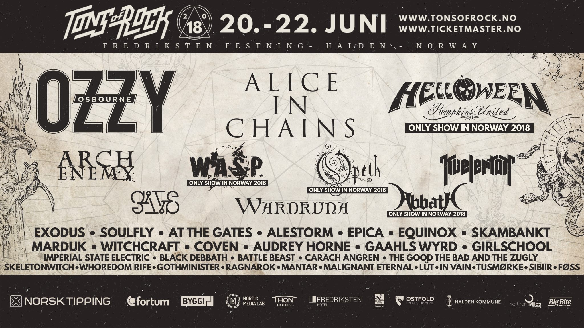 Tons of Rock 2018